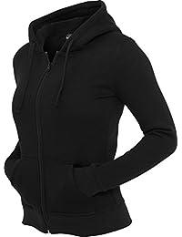 Urban Classics Damen Zip Kapuzenpullover
