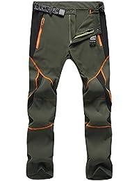 Sukutu SU001 Pantalones deportivos para Hombre, ligeros, impermeables, transpirables, secado rápido, Senderismo, montaña, Cargo, color armee-grün, tamaño M