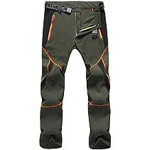 Sukutu SU001 Pantalones deportivos para Hombre, ligeros, impermeables, transpirables, secado rápido, Senderismo, montaña, Cargo, color armee-grün, tamaño S