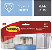 Command Medium Transparent Caddy for Home Kitchen Organization, Holds 900 gm, No Drilling, Holds Strong, No Wall Damage (1 C