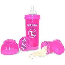 Twistshake Biberón anticólicos con mezclador rosa rosa Talla:260 ml, 9oz
