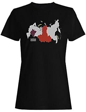 Nuevo Hermoso Mapa Rusia Arte camiseta de las mujeres m292f