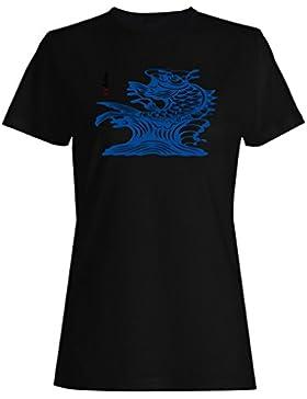 Abundante año de cosecha chino en buena fortuna roja camiseta de las mujeres rr94f