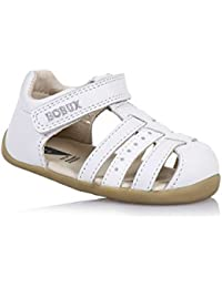 BOBUX - Chaussure Step Up Jump blanche e cuir, made in New Zealand, idéale pour les premiers pas, bébé garçon