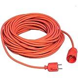 Unitec 46452 Rallonge Schuko H05VV-F 3G 1,5 mm² Orange 25 m