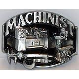 Machinist Black Enamel High Quality New Trades Belt Buckle