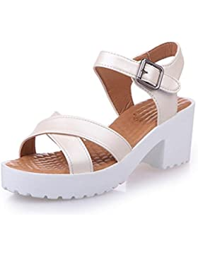 Sandali estate delle donne Vovotrade Scarpe peep-toe Scarpe sandali bassi romani signore Infradito