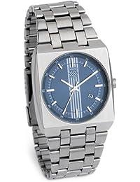 K Swiss M066.00KS - Reloj analógico de caballero de cuarzo con correa de acero inoxidable plateada - sumergible a 50 metros