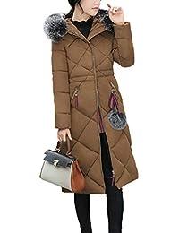8f50a6ac39bb Manteau À Long Femmes Hiver Chaud Manteaux À Capuche Veste d hiver Slim  Parka Outwear