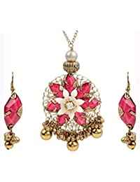 Swasti Jewels Antique Colour Gold Plated Necklace Earrings Set For Women - B0749PMZCY