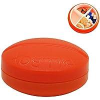 Pille Box Fach Tragbare Pillen Speicher Boxen Täglich Und Reise Nutzung-4 Fächer,Red,6.5X6.5X3CM preisvergleich bei billige-tabletten.eu