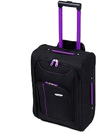 More4bagz léger Admis en cabine à roulettes Valis'à roulettes Bagage à main bagages sac fourre-tout Noir, Bleu, Rose, Violet