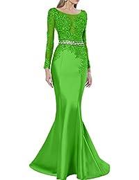 Promgirl House Damen Luxus Etui Mermaid Spitze Abendkleider Ballkleider  Hochzeitskleider Lang mit Aermel bf916ff5b2