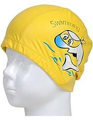 Forfar Gorra de natación Tapas Linda Dibujos animados Dolphin Animal Impermeable Proteger los oídos para Niños