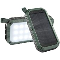 Caricatore solare, 8000mAh,  porte USB e 21LED luce solare Power Bank batteria portatile il cellulare, pannello solare per emergenza campeggio escursionismo per iOS e Android cellulari