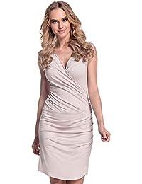 Glamour Empire Para Mujer. Vestido ajustado con detalle fruncido. 045