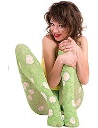 Hotlook Green green daisy Strumpfhose Blumenwiese grün Gänseblümchen Blumen Wiese
