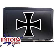 Carpeta Moto Fuente Negro Bici Pegatina Vinilo Impreso para Coche - 90x18 mm Espa/ña JINTORA Pared Nevera etc Bandera mas Nombre Personalizado Puerta