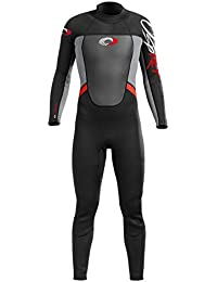Osprey Mens Origin Full Length 3/2mm Wetsuit Black Red