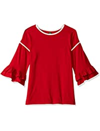 United Colors of Benetton Girls' Regular Fit Plain T-Shirt