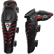 Moto rodilleras protectores caballero al aire libre a campo través pierna romper-resistente rodilleras color rojo