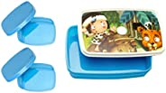 Signoraware Little Stars Plastic Lunch Box Set 3-Pieces Blue