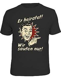 RAHMENLOS Original T-Shirt für Das JGA-Team beim Junggesellenabschied Rechts vom Bräutigam: Er Heiratet…