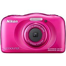 "Nikon Coolpix W100 - Cámara digital compacta de 13.2 MP (pantalla LCD de 2.7"", CMOS, Snapbridge, VR, objetivo Nikkor, USB, vídeo Full HD, WiFi) rosa - kit con mochila"