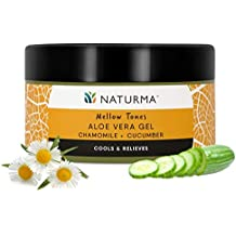 Naturma Chamomile Cucumber Aloe Vera Gel, Natural and Organic, Cools Relieves After-Shave, 100gm