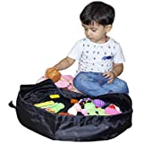 NISUN Polyester Toy Storage Bag (Black, 20 Inches)