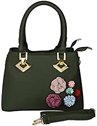 Prepoy Trendsetter Exclusive Imported Leather Ette Hand Bag For Womens Hand Bag (Green)