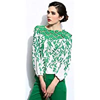 Ladies Long Sleeve Blouse Lace Splicing Chiffon Women Shirt Clothing Sv00161\8 M