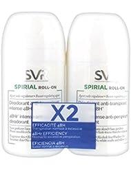 SVR Spirial Déodorant Anti-Transpirant Roll-on Transpiration Intense Lot de 2 x 50 ml