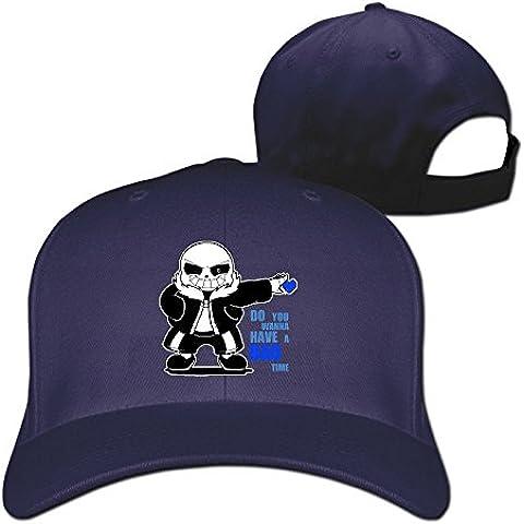 cedaei UNDERTALE Sans do you wanna have un mal tiempo Fashion unisexbaseball Cap Sombreros blanco
