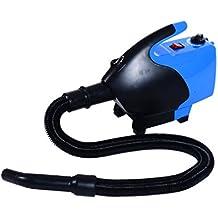 Secador Pelo Perros y Mascotas Potencia 2600W Φ26x40cm 43-65 ℃ Azul y Negro NUE
