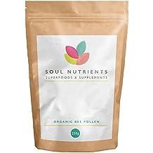 Organic Bee Pollen 250g by Soul Nutrients ☆ Soil Association Certified ☆ Highest quality 100% Organic Bee Pollen ☆