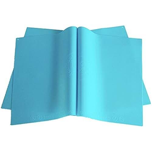 dia del orgullo friki 100 Goods 100% de una sola pieza de Alimentos calificó pigmento silicona Cero Todo tipo de clima Placemat , 11.4 x 16.1 x 0.03, Conjunto de 2 azul