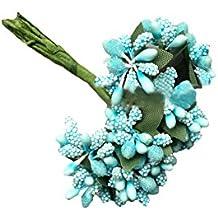 Surker 144pcs DIY Papel Espuma Mini de K ¨ ¹ nstlichen Flores. ha02177 azul claro