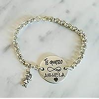 Pulseras te quiero abuela, pulseras personalizadas, pulsera para abuelas, regalos abuelas.