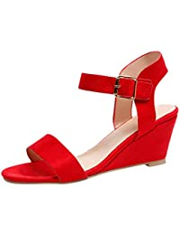 31606d76baf Amazon.co.uk: Wedge - Red / Sandals / Women's Shoes: Shoes & Bags