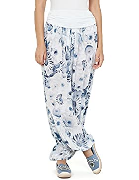 VISSTEME Pantalón Yoga Bombacho Estampado Flores