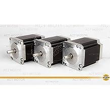 Act Motor GmbH 3pcs NEMA23motore passo-passo 23hs8430d8p1–5Stepper Motor 76mm 3.0a 1,9NM con single FLAT Shaft (D Shaft)