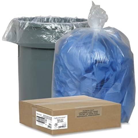 Trash Can Liners,Rcycld,45 Gal,1.5mil, 40