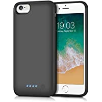Kilponene Battery Case for iPhone 6/6S/7/8 -【2019 Newest Version】6000mAh Charging Case Extended Battery for iPhone 6/6s/7/8 Rechargeable Battery Backup Portable Charger Case 4.7 inch Black