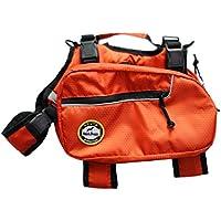 BlackDoggy Cane Saddle Bag Pet Zaini Cablaggio Quick Release Vettori Di Campeggio All'Aperto Pack Arancione Piccolo - Arancione Saddle