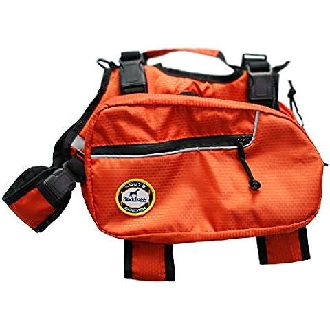 BlackDoggy Cane Saddle Bag Pet Zaini Cablaggio Quick Release Vettori Di Campeggio All'Aperto Pack Arancione Grande