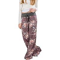 Pantalons Droit Evasée Femmes avec Cordon Baggy Hip Hop Large Jambes  Pantalon Sarouel Leggings Bohemien Hippie 1499ac7d848