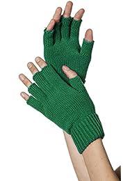 Handschuhe gestrickt, fingerlos, grün