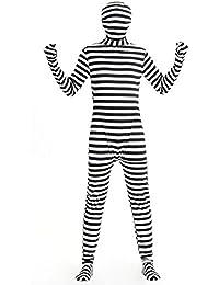 Disfraz de Preso Traje de Prisionero convicto para Adultos vestuario carnaval