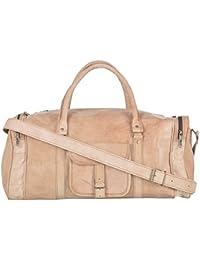 2dots Handmade Genuine Leather 30 Cms Brown Gym Bag Travel Duffel Bag